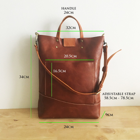 LEATHER Tote Sling Handheld Bag Details A.jpg