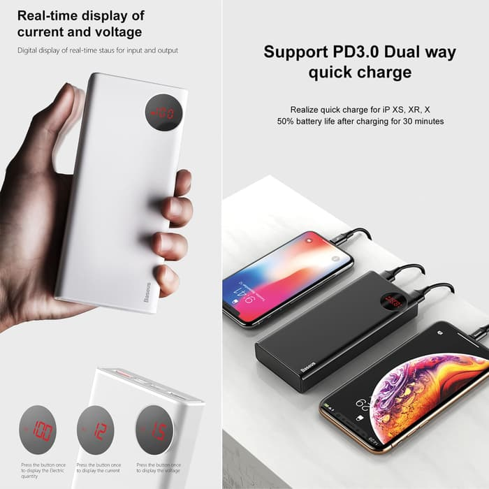 Baseus Mulight PD3.0 Quick charge powerbank 20000mAh_WHITE_11.jpg