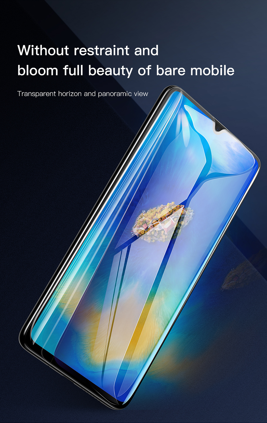 Baseus Huawei Mate20 X 0.3mm Anti-bluelight Full Cover Curve  Black Tempered Glass_5.jpg