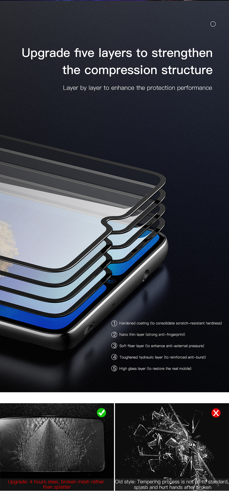 Baseus Huawei Mate20 X 0.3mm Anti-bluelight Full Cover Curve  Black Tempered Glass_8.jpg