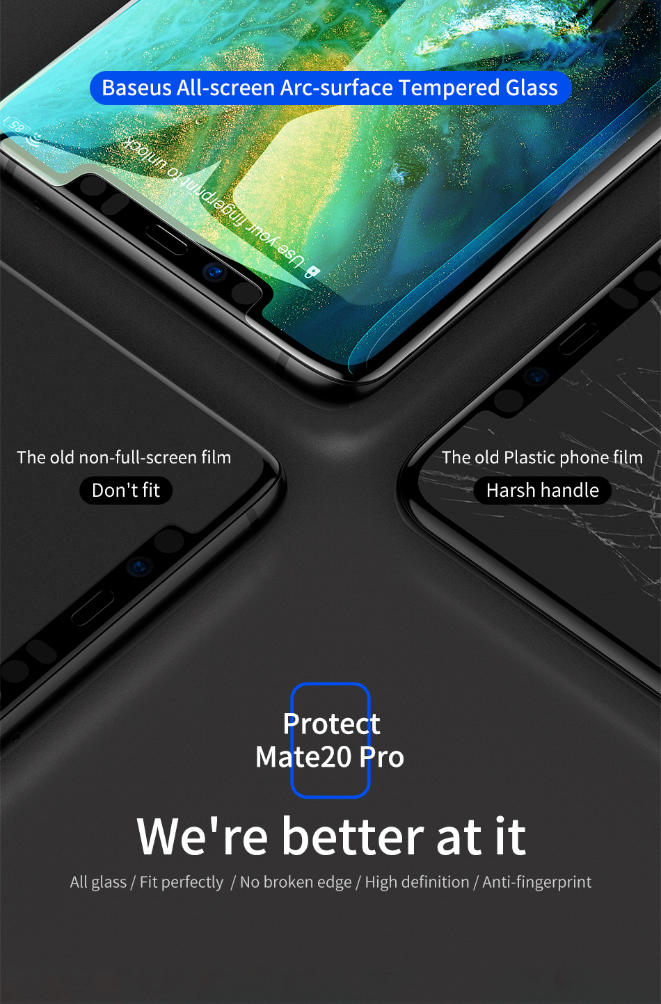 Baseus Huawei Mate20 Pro 0.3mm Full Cover Curve Black Tempered Glass_2.jpg