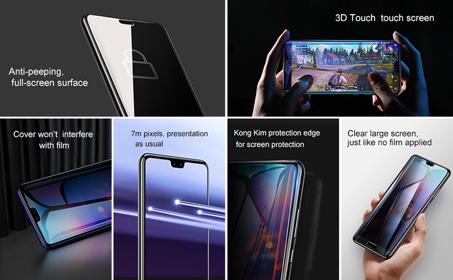 Baseus Huawei P20 0.3mm Privacy Full Cover Curve Anti-spy Black tempered glass_2.jpg