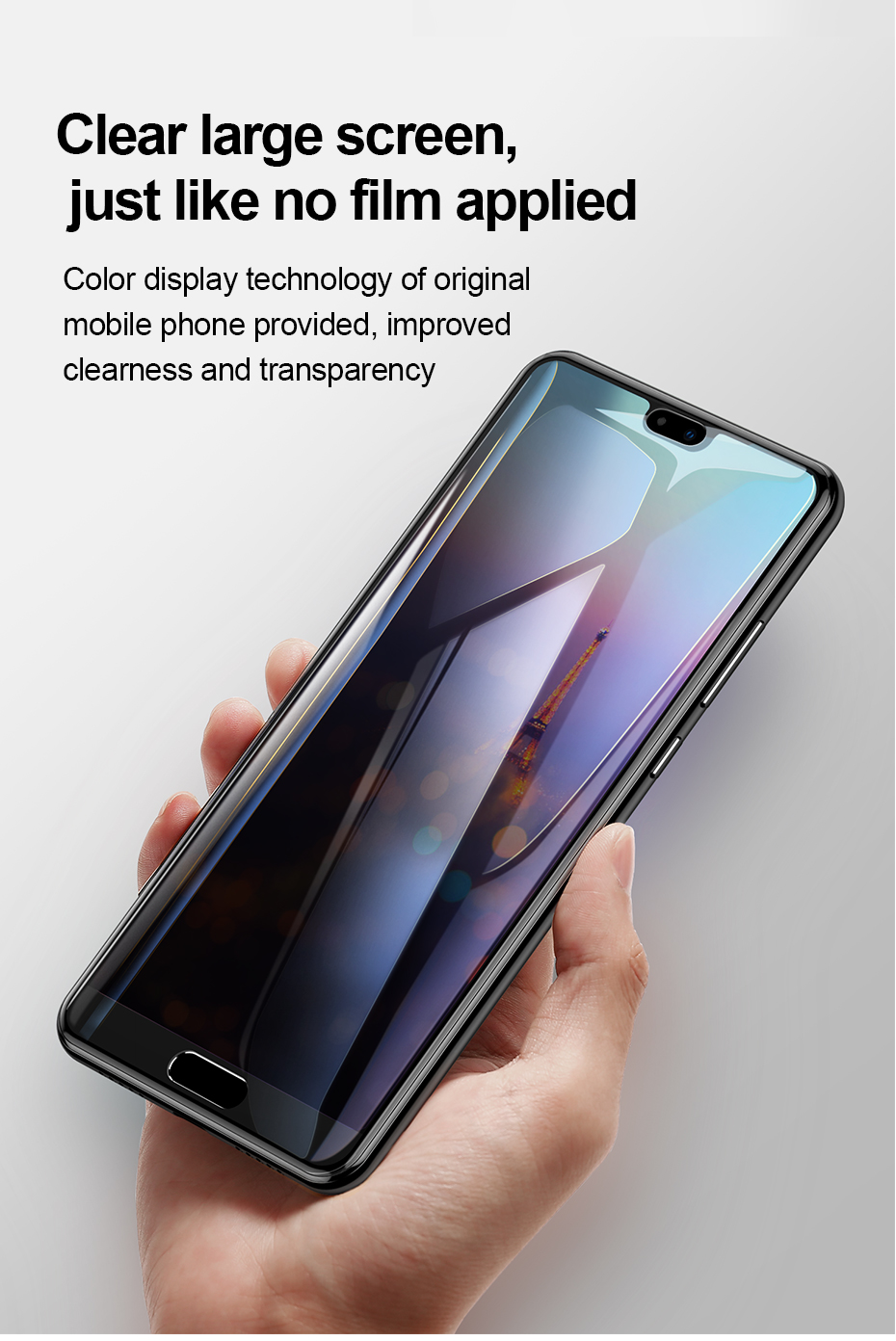 Baseus Huawei P20 0.3mm Privacy Full Cover Curve Anti-spy Black tempered glass_14.jpg