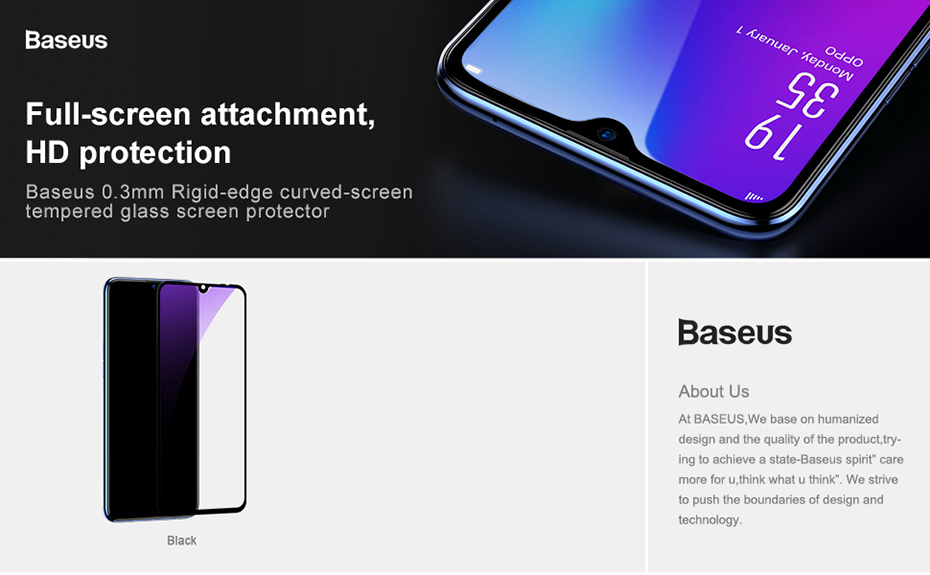 Baseus Xiaomi Mi 9 0.3mm Anti-bluelight Full Cover Curve Black Tempered Glass_1.jpg