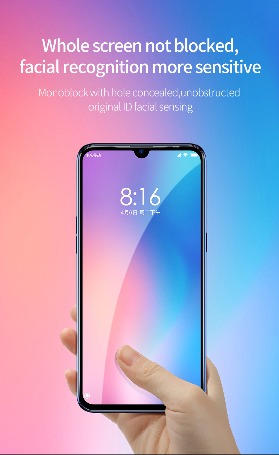 Baseus Xiaomi Mi 9 0.3mm Anti-bluelight Full Cover Curve Black Tempered Glass_7.jpg