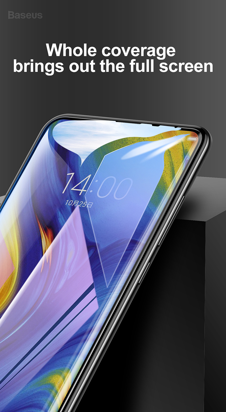 Baseus Xiaomi Mix 3 0.3mm  Anti-bluelight Full Cover Curve Black Tempered Glass_1.jpg