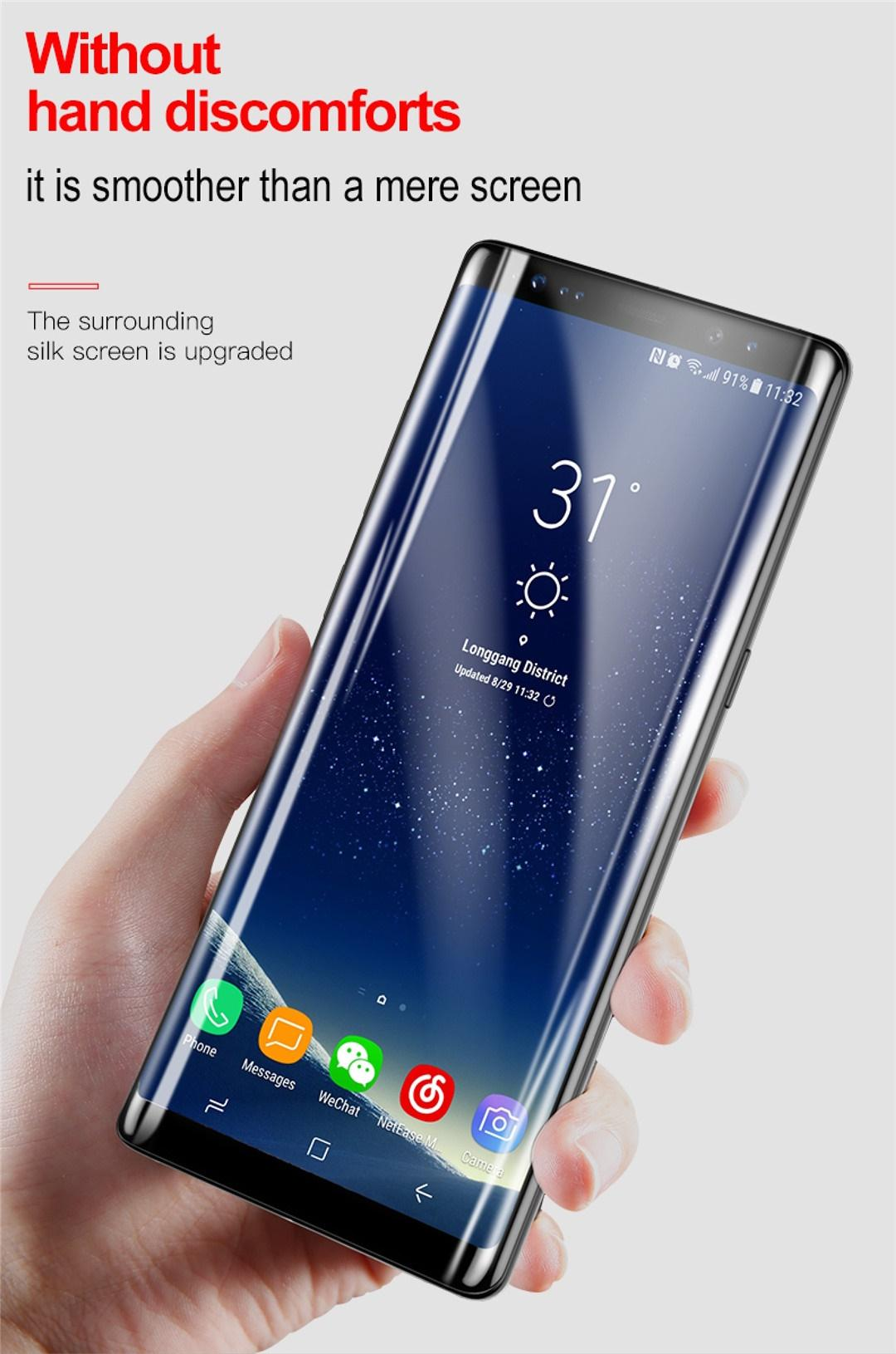 Baseus Samsung Note 8 0.3mm Full Cover Curve Black Tempered Glass_4.jpg