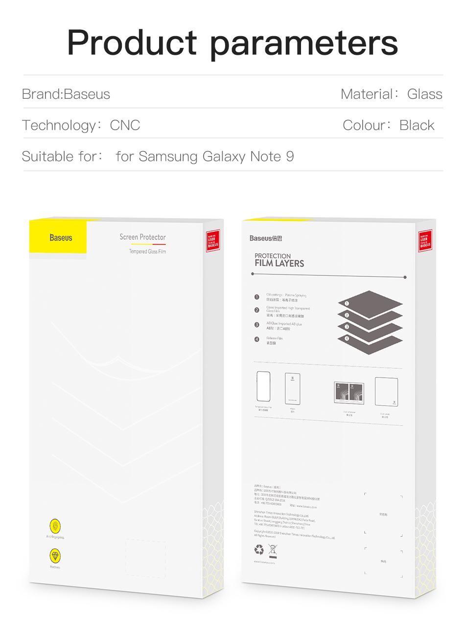 Baseus Samsung Note 9 0.3mm Full Cover Curve Black Tempered Glass_9.jpg