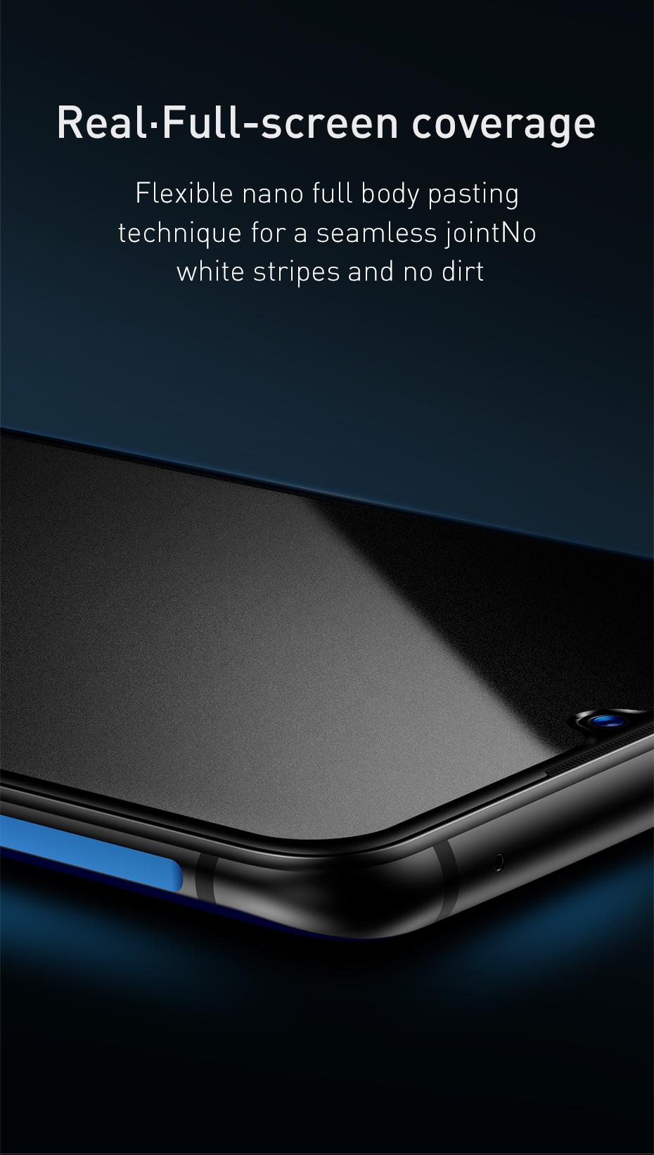 Baseus 0.3mm All-screen Arc-surface Anti-bluelight Tempered Glass Film For Vivo X23iQOO Black_8.jpg