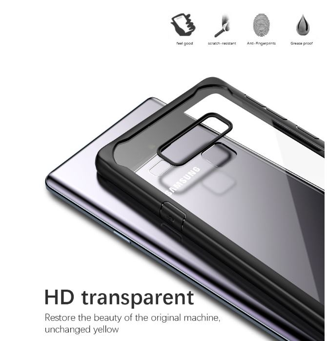VISEON CLEAR ACRYLIC PROTECTIVE BACK COVER CASE_SAMSUNG note 9_9.jpg