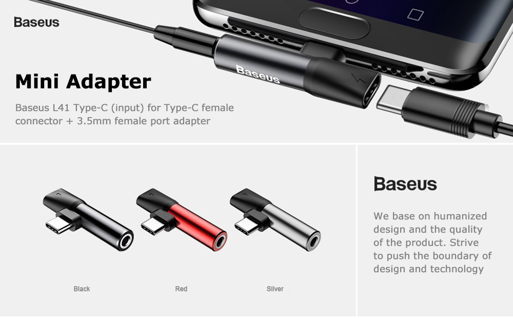 Baseus L41 Type-C (input) for Type-C female connectors + 3.5 mm female connector adapters Black_1.jpeg