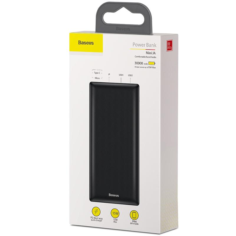 Baseus Mini JA Fast charge power bank 3A 30000mAh Black_7.jpg