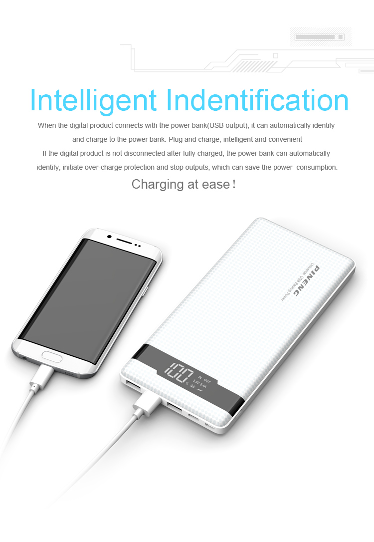 PINENG PN-961 10000mAh 3 Input Quick Charge 3.0 Lithium Polymer Power Bank_6.jpg