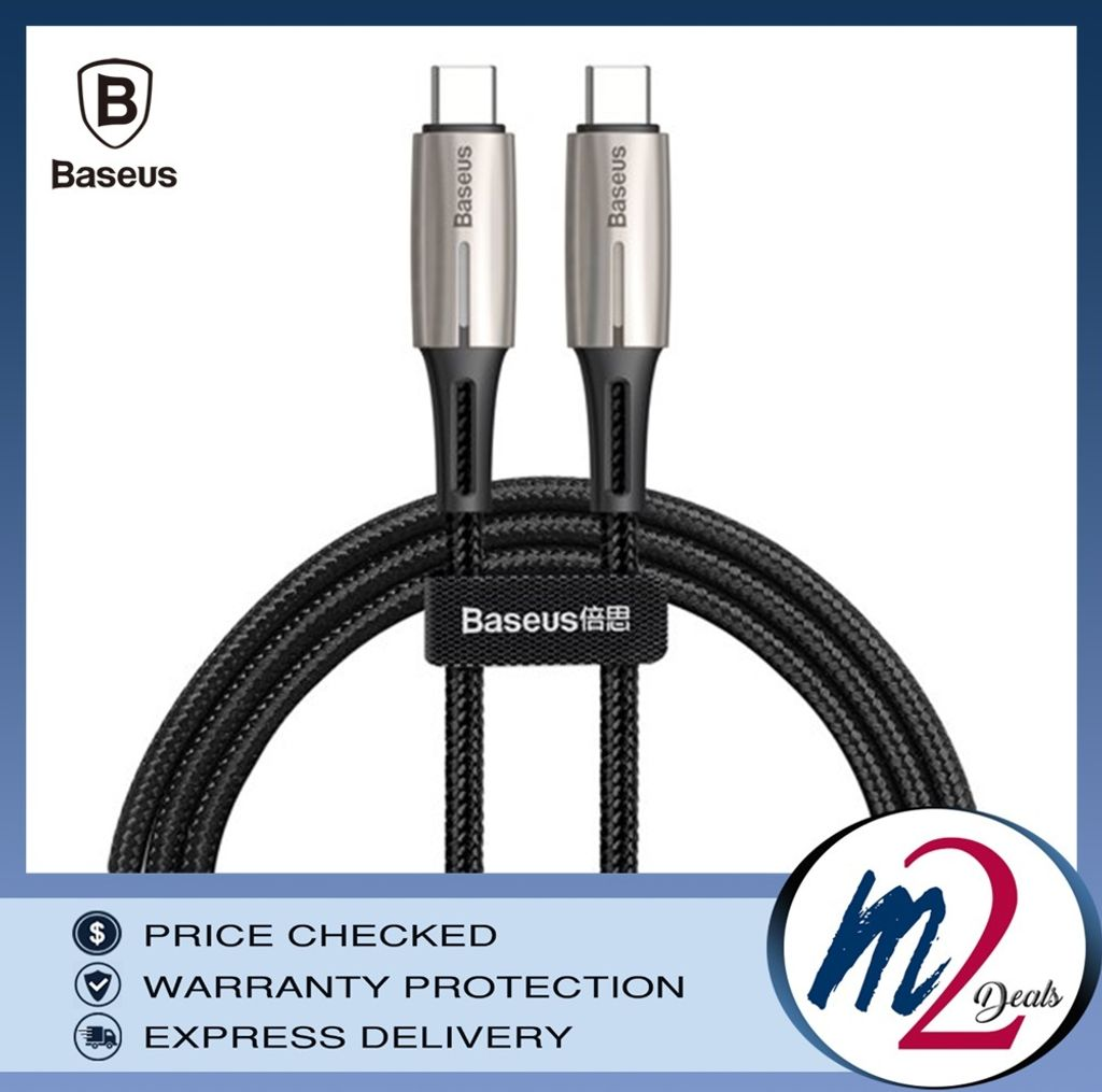 m2deals.my_Baseus Water Drop-shaped Lamp Type-C PD2.0 60W Flash Charge Data Cable 20V 3A 1m _BK.jpg