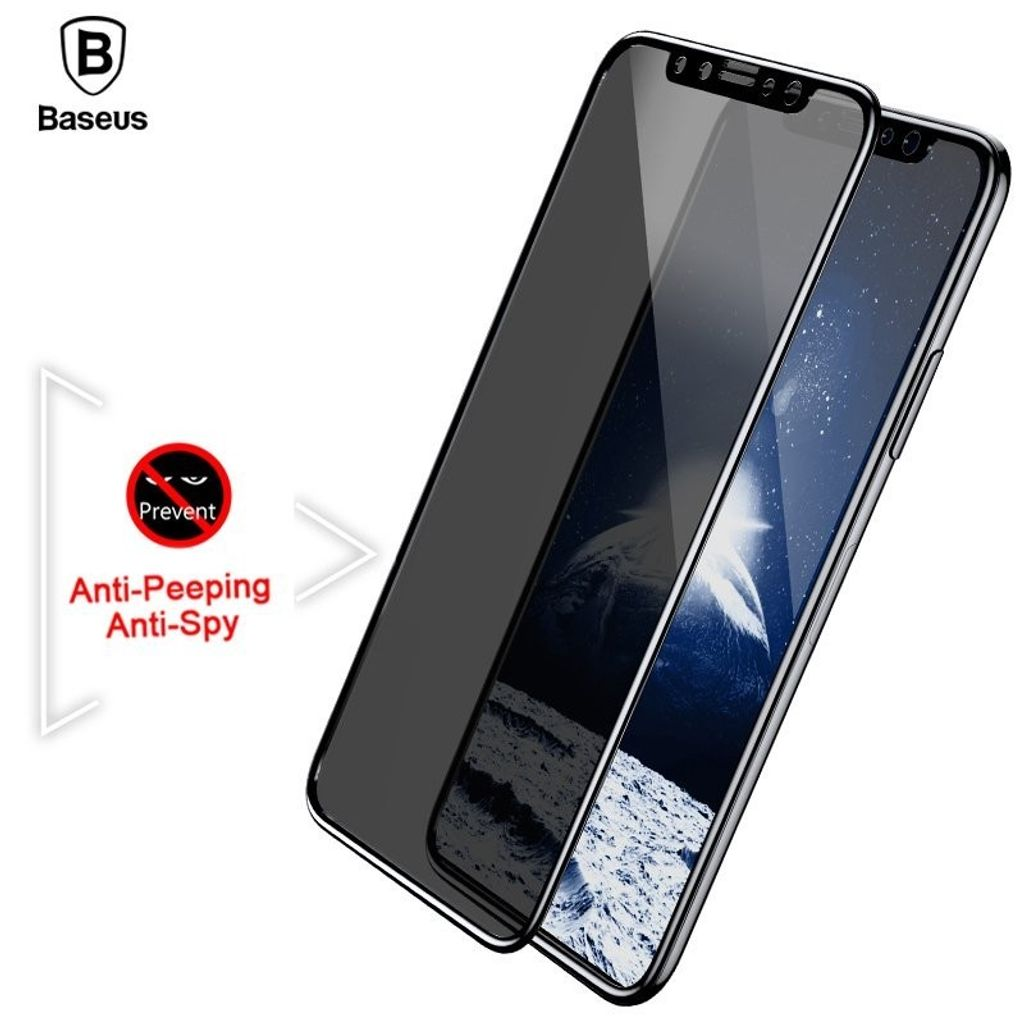 Baseus Huawei P20 0.3mm Privacy Full Cover Curve Anti-spy Black tempered glass_17.jpg