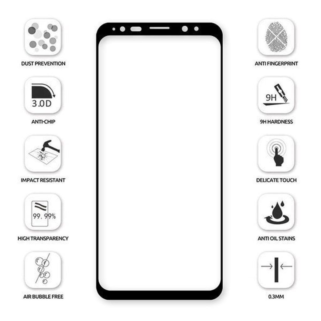 Baseus Samsung S9 and S9P 0.3mm Full Cover Curve Black Tempered Glass_2.jpg