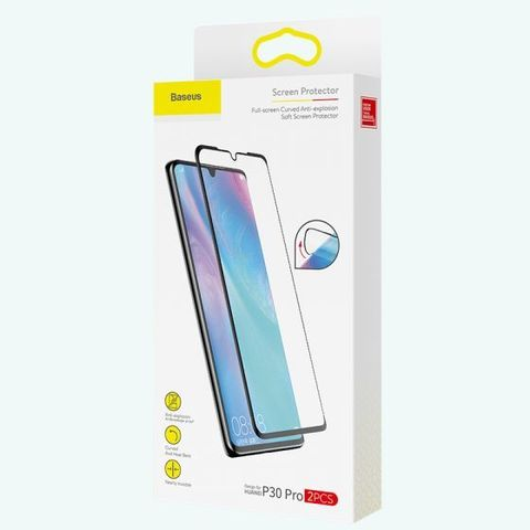Baseus 0.15mm full-screen curved anti-explosion, soft screen protector For P30 Black_18.jpg