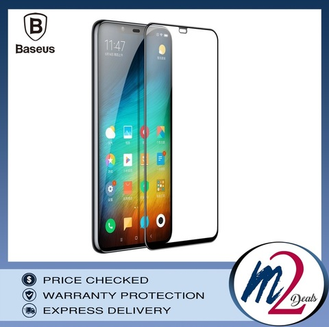 Baseus 0.3mm All-screen Arc-surface Tempered Glass Film For MI8 SE Black_.jpg