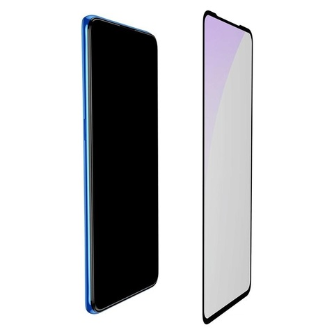 Baseus 0.3mm All-screen Arc-surface Anti-bluelight Tempered Glass Film For Vivo x27 Black_2.jpg