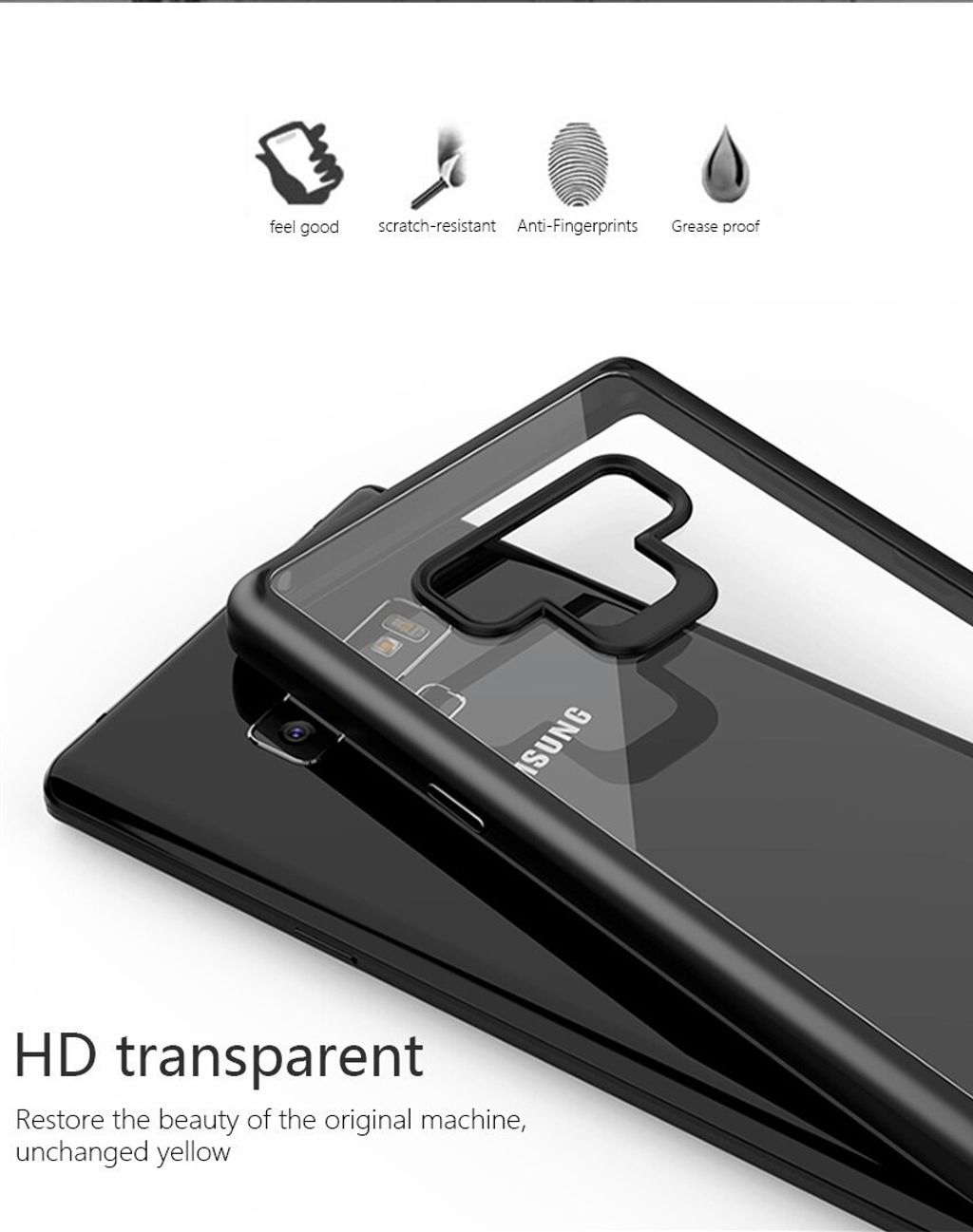 VISEON CLEAR ACRYLIC PROTECTIVE BACK COVER CASE_SAMSUNG note 9_5.jpg