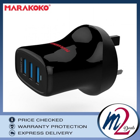 17W  3A MARAKOKO MAT13 3 USB PORT SMART WALL CHARGER (UK PLUG) - BLACK_11.jpg