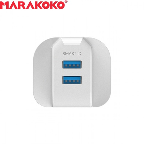 12W 2.4A MARAKOKO MA42 DUAL PORT SMART WALL CHARGER UK PLUG (WHITE)_5.jpg