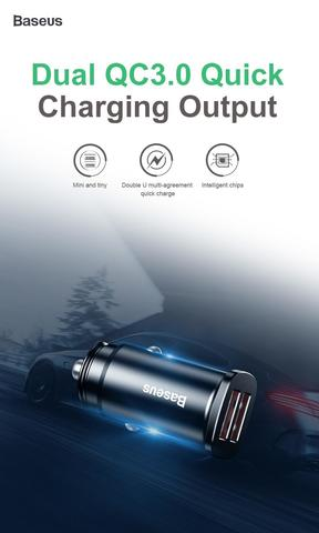 Baseus  Square metal A+A 30W  Dual QC3.0  Quick  Car Charger(QC3.0)_1.jpg
