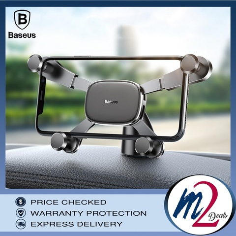 Baseus Horizontal Screen Gravity Vehicle-mounted Holder Black 17.jpg