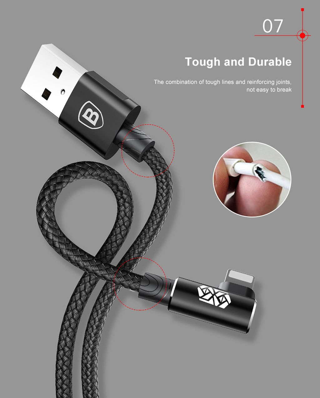 Baseus MVP Elbow Type Gaming Cable USB For Apple iPhone 2A 1M_6.jpg