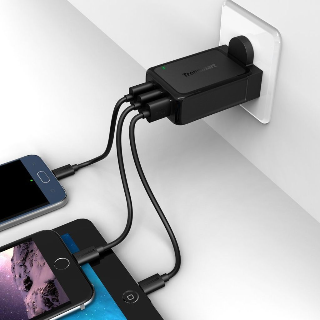 Tronsmart W3PTA 42W Quick Charge 3.0 Wall Charger (1Quick Charge 3.0 Port+2 VoltIQ Ports)_5.jpg
