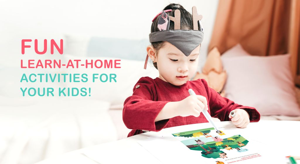 Some fun learn-at-home activities for your kids!
