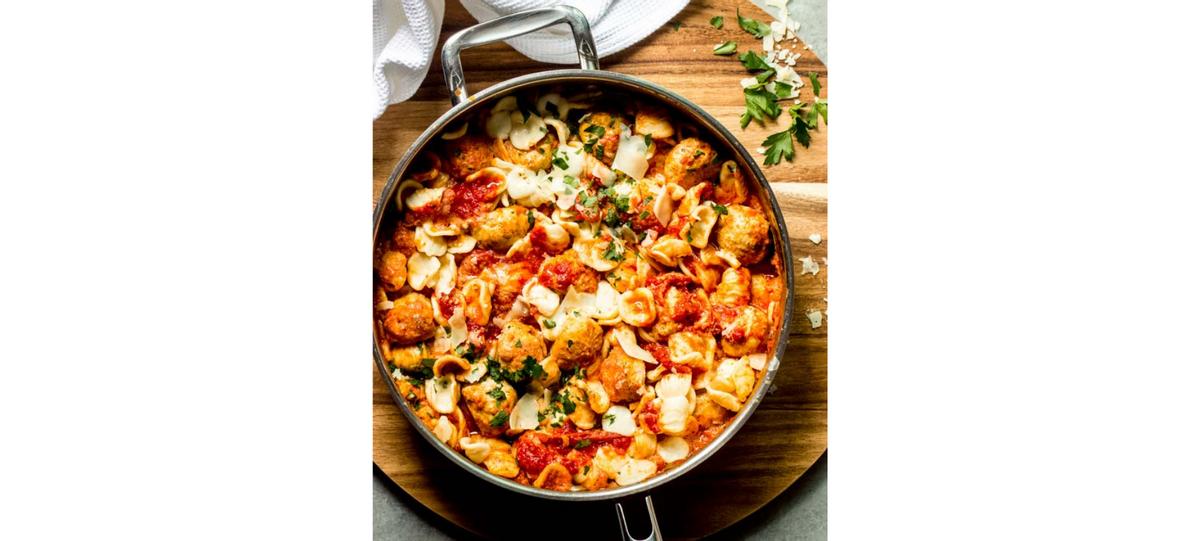 Resipi: Baked Macaroni with Meatball Creamy Sauce