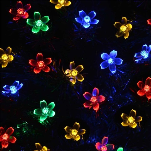 7M Peach Ledertek Flower Solar Lamp Power LED String Fairy Lights Solar.jpg