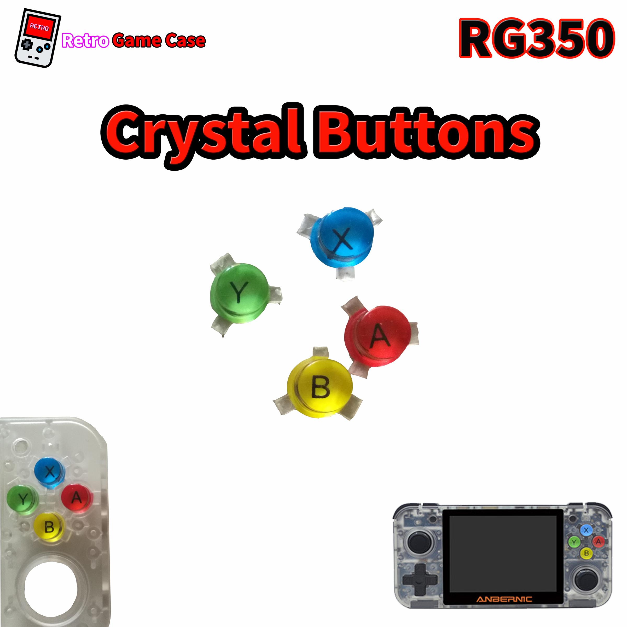RG350 Replacement XYAB Button Rainbow Color - 4pcs
