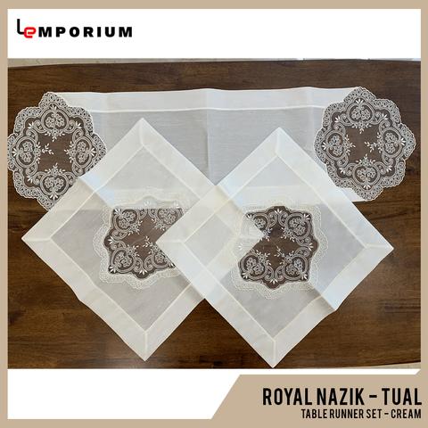 - ROYAL NAZIK - TUAL TABLE RUNNER - CREAM.png
