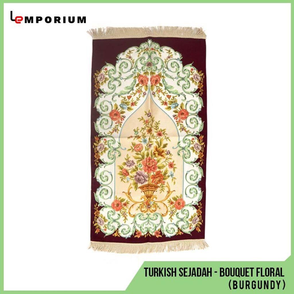 _0023_44 - Turkish Sejadah - Bouquet Floral Motif (Burgundy).jpg