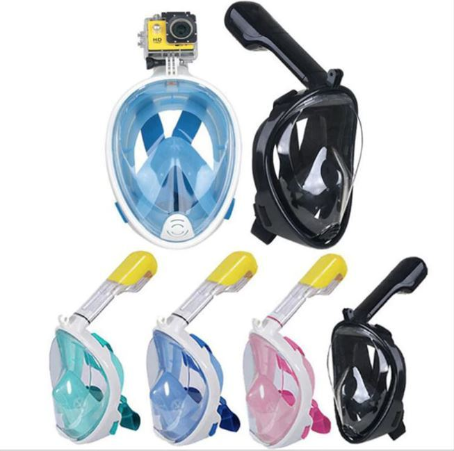 Full Face Diving Mask Detachable Snorkeling Diving Mask Swimming Training Scuba Anti-fog Under Water