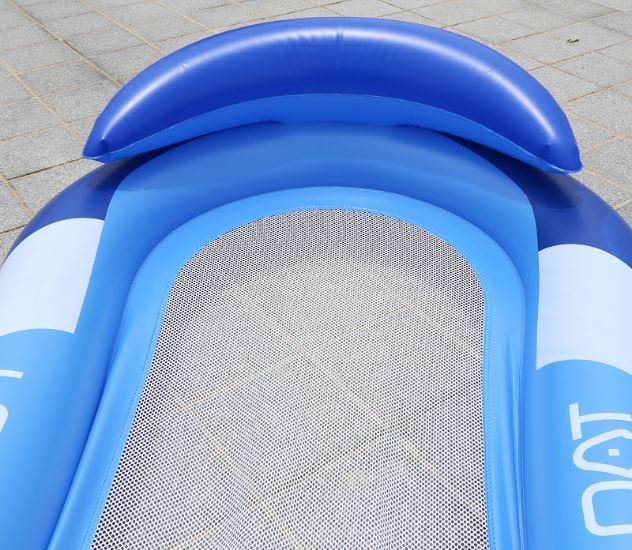 Inflatable water lounge chair with armrest sofa floating swimming inflatable bed