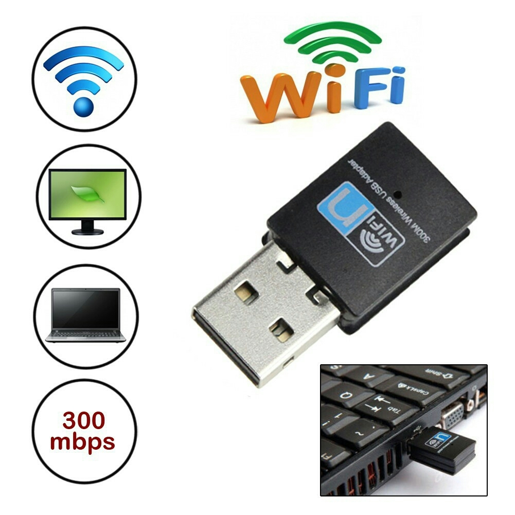 300 Mbps Wireless Dongle Adapter Wifi Mini USB Adapter 802.11 B G N Lan