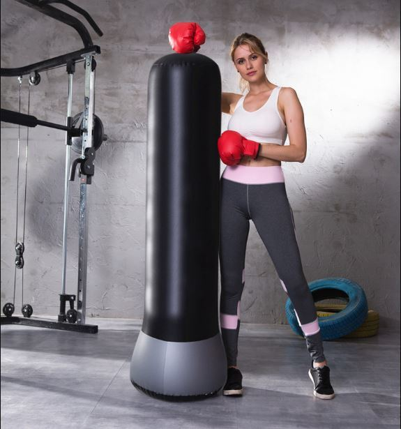1.5 Meter Portable Boxing Column Inflatable Free-Standing Punching Bag Fitness Accessories