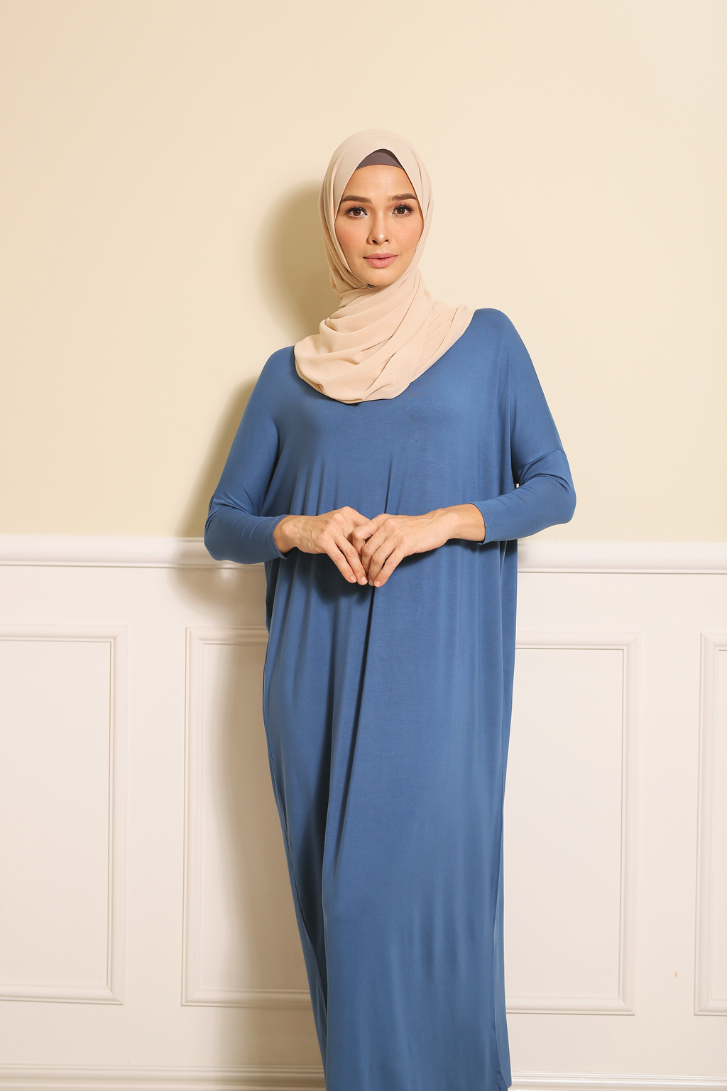 Batwing Dress in Blue.png