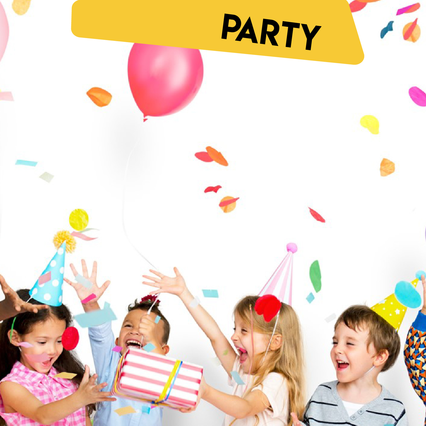 Open Playhouse Party Banner
