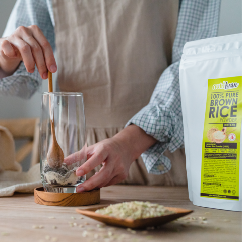 Add brown rice powder into your coffee powder.png