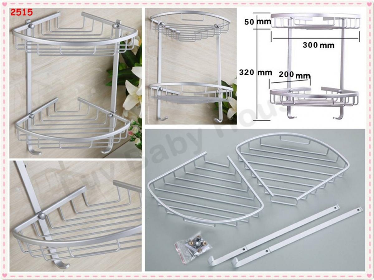 2515 太空铝双层三角条丝置物架