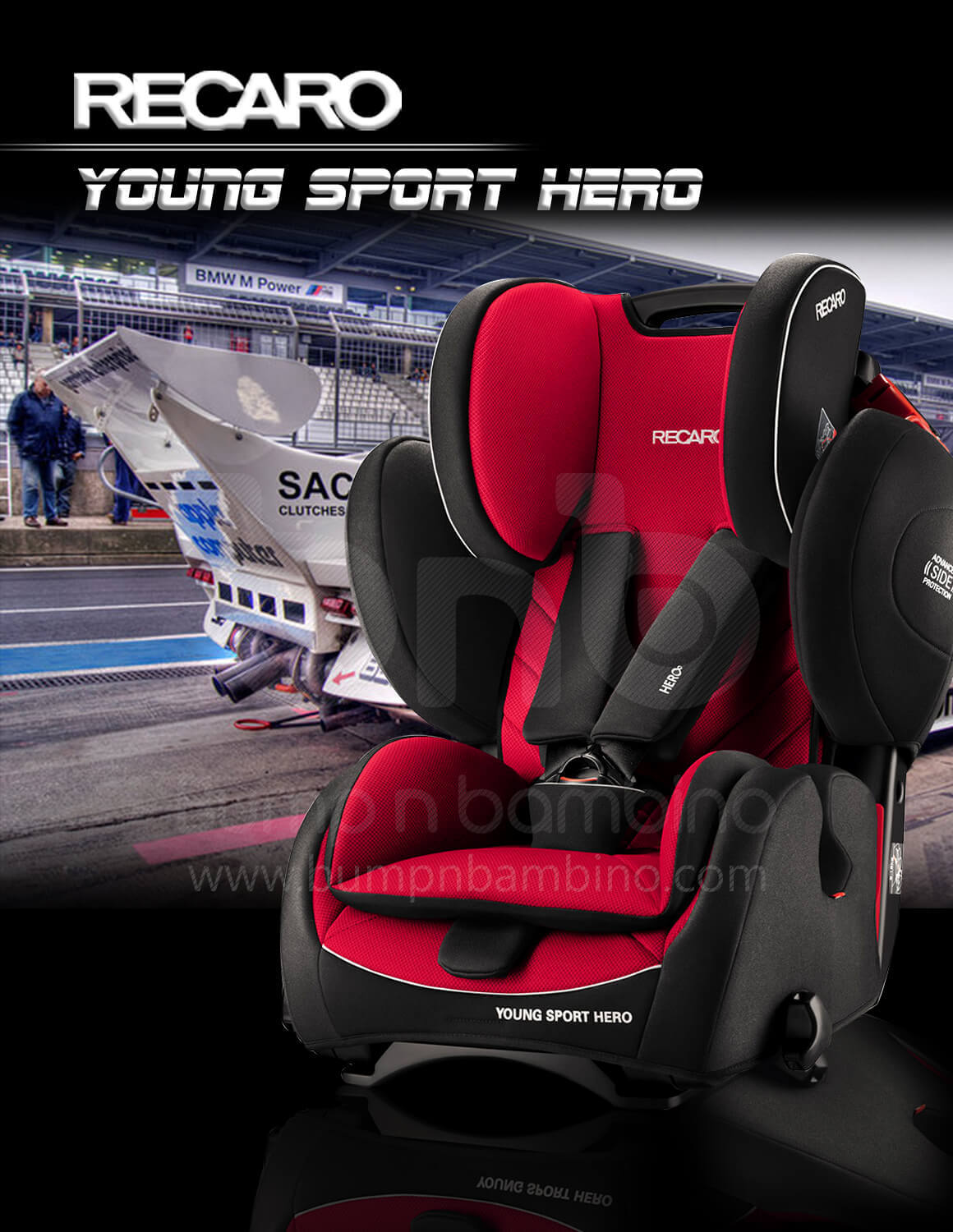 recaro young sport hero car seat bump n bambino. Black Bedroom Furniture Sets. Home Design Ideas