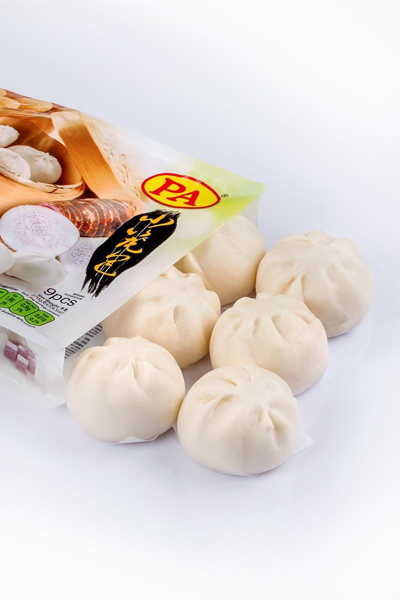 Products-steamed-bun-mini-steamed-bun-taro-yam-product-with-packaging
