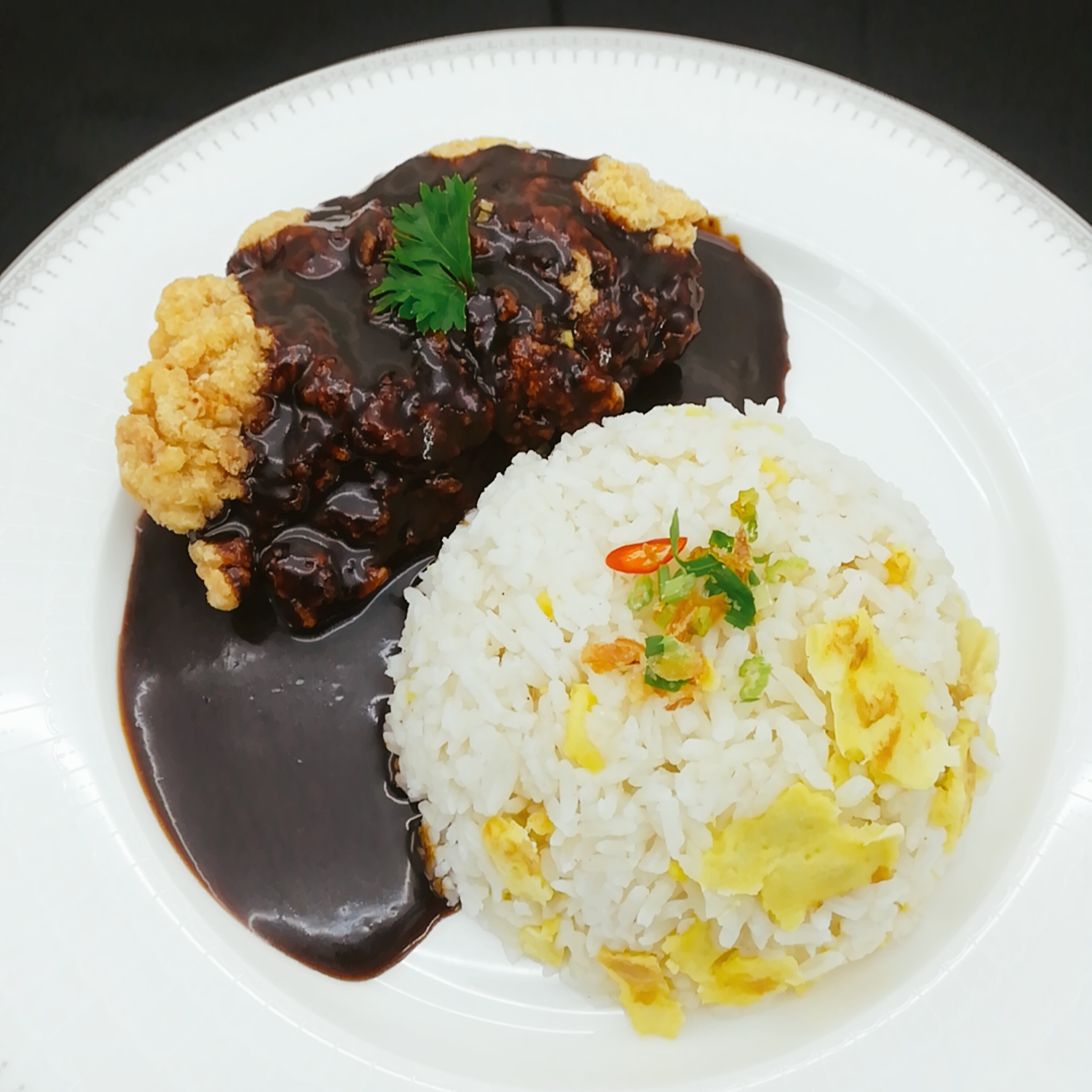 3. Egg Fried Rice Black Pepper Chicken Chop C.jpg