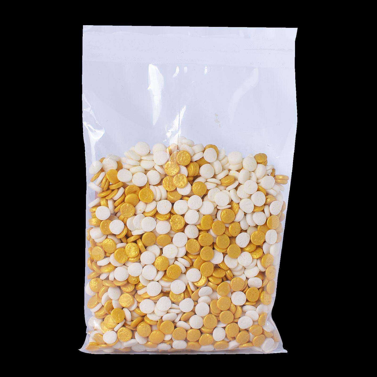 Sugar Decor-Sequin (Gold,White) 50gm 2.png