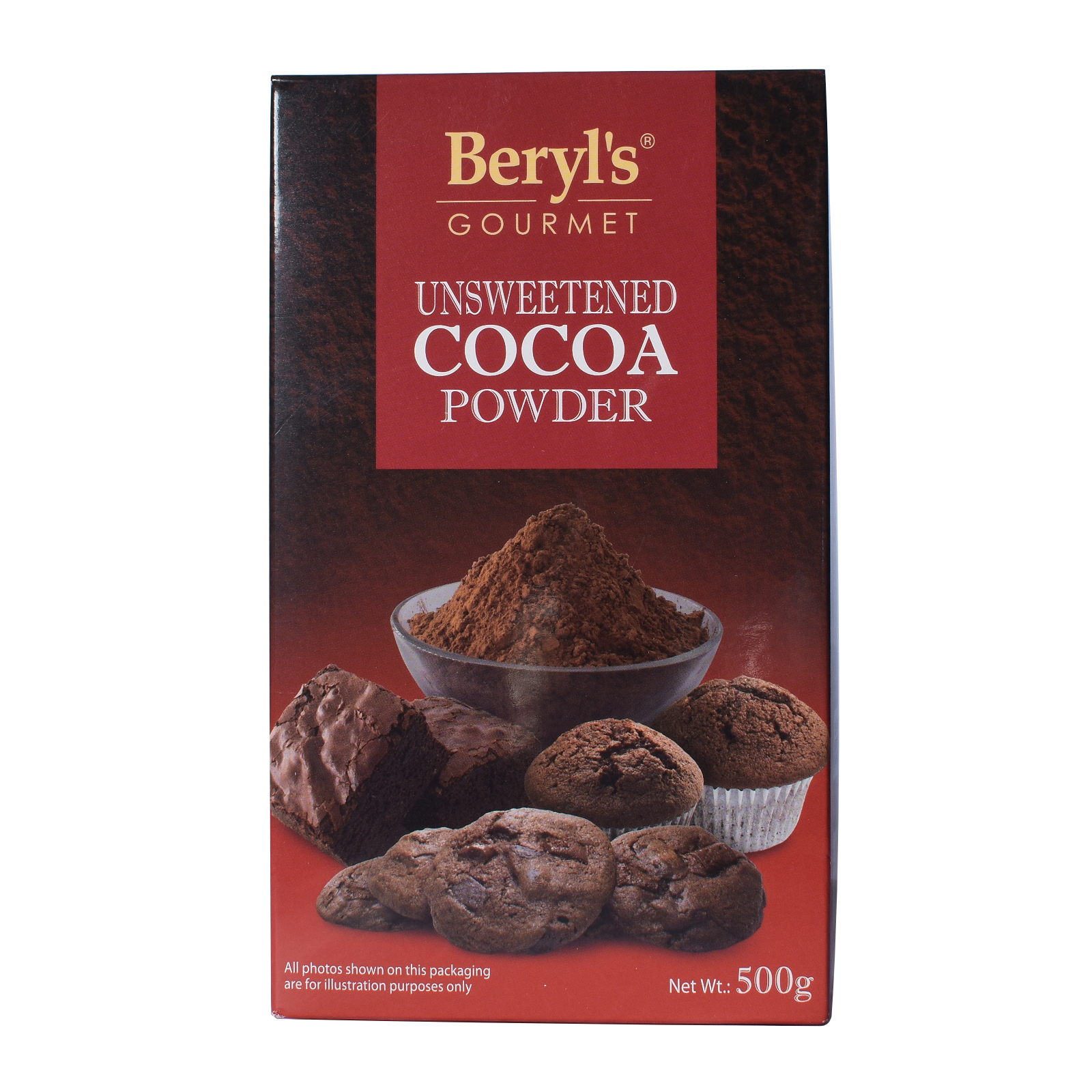 Beryl's Gourmet Unsweetened Cocoa Powder 500gm.png