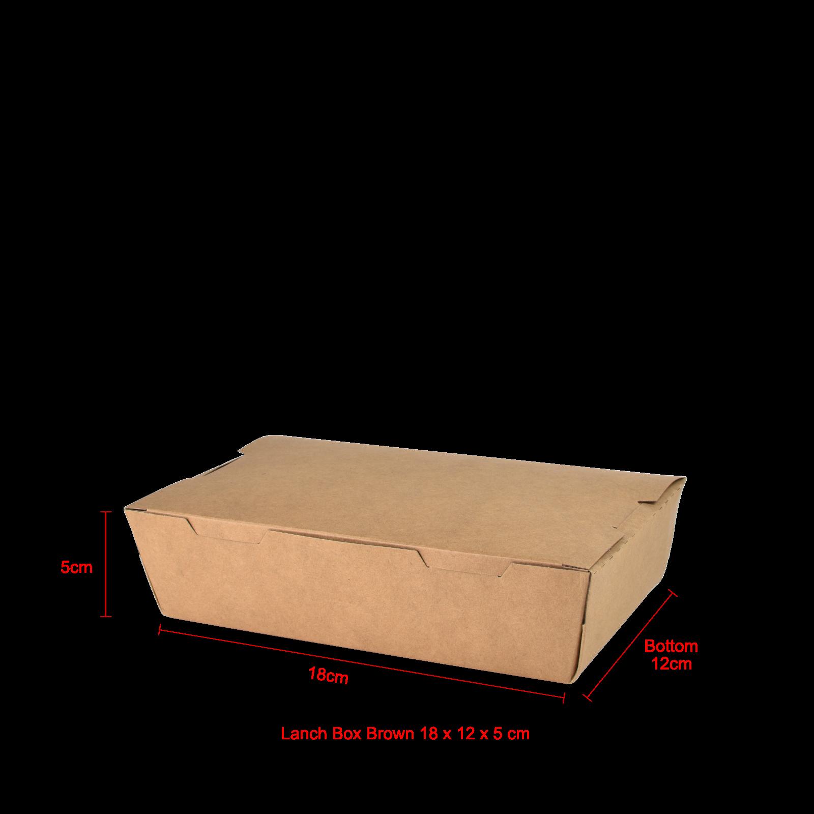 Lanch Box Brown 18 x 12 x 5 cm  50pcs...png
